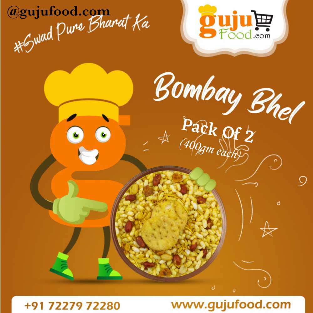 Bombay Bhel (Gujufood Special ) Pack of 2 (400gm Each)