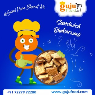Sandwich Bhakarwadi  (Gujufood Speacial)