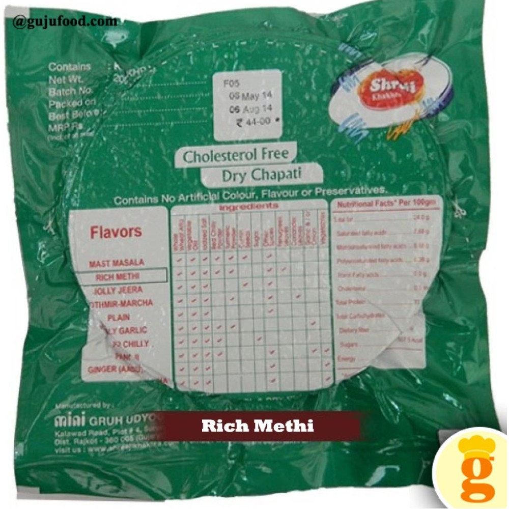 Rich Methi Khakhra 400GM
