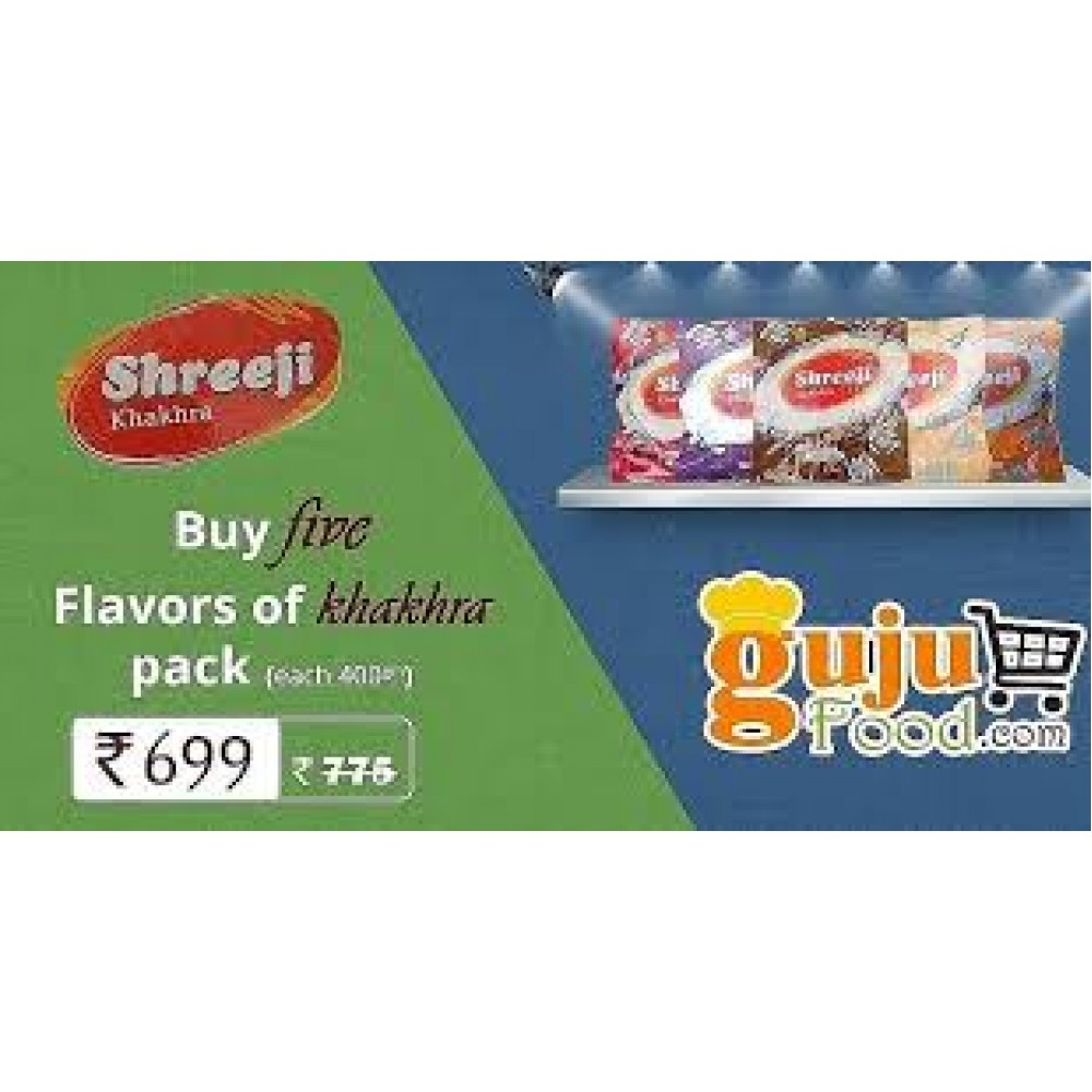 Five Flavours Of Shreeji Khakhra Combo 1 (2kg)